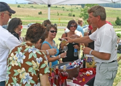 Wine tasting at the Daylily & Wine Festval