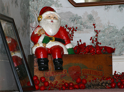 Santa on the stairs