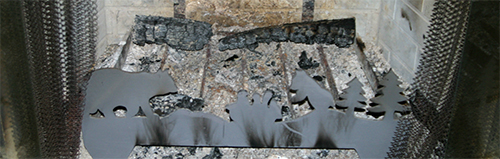 What can be done with wood ashes from the fireplace or wood stove?