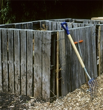 A compost bin can easily be made out of wooden pallets