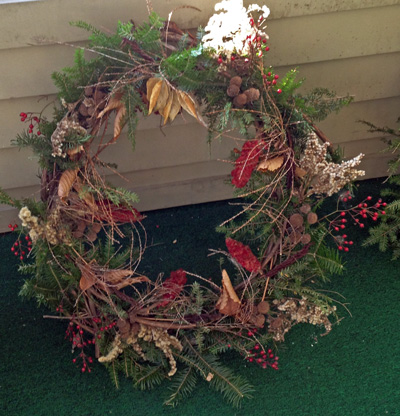 Diantha's completed wreath